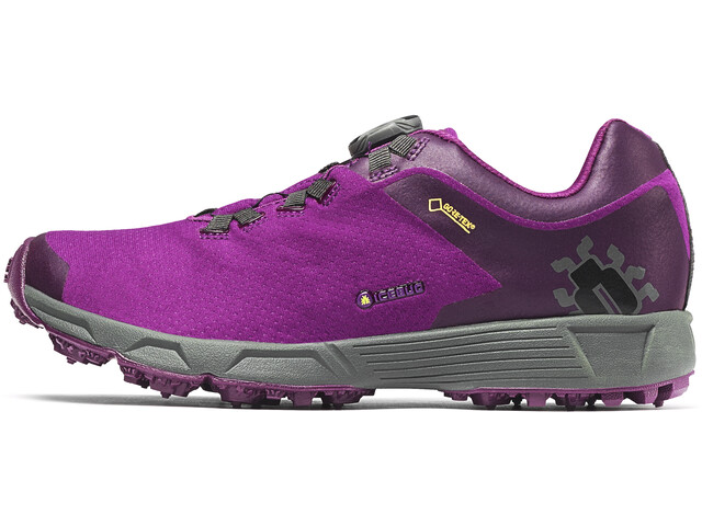 Icebug W's DTS3 BUGrip GTX Shoes Dark Magenta/Carbon
